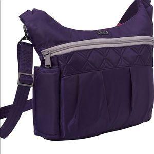 Lug Swing Crossbody Purple Lilac Organizer Bag